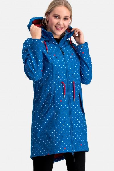 Blutsgeschwister Anchor Love Damen Softshell Mantel Blau Anker