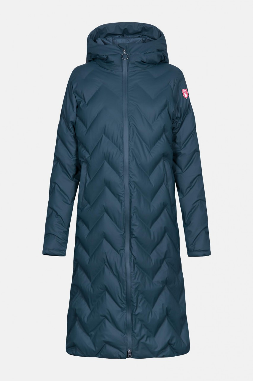 Derbe Interlink Long Damen Wintermantel Navy Dunkelblau