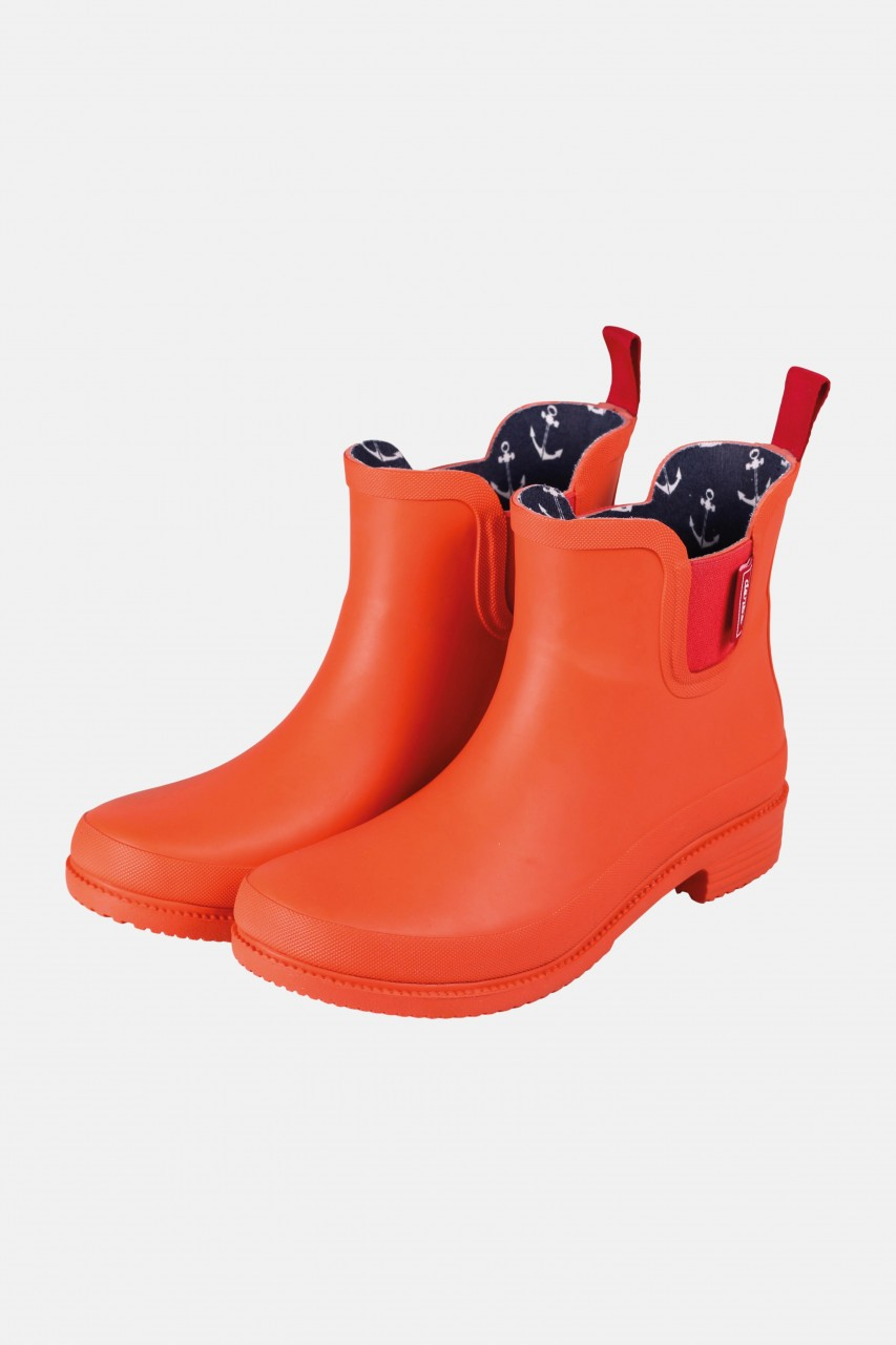 Derbe Taai Botten Eco Cherry Tomato Orange Rot Damen Gummistiefel Halbstiefel