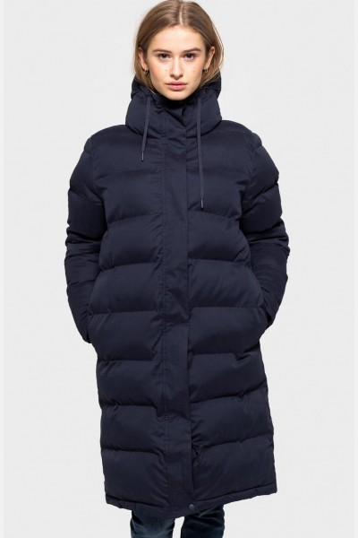 Selfhood Puffer Jacket Damen Wintermantel Steppmantel Navy Dunkelblau