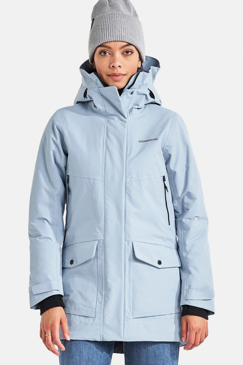 Didriksons Frida Damen Winterparka Cloud Blue Hellblau