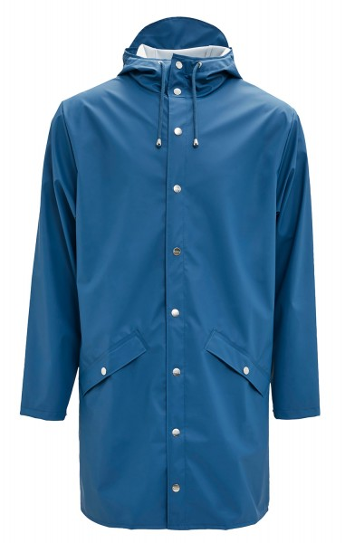 Rains Jacket Long Blau Unisex Regenmantel Faded Blue Friesennerz