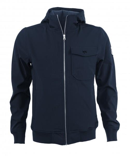 Derbe Herren Tollow Navy Blau Softshell Jacke