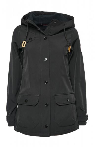 Derbe Peninsula Schwarz Damen Softshell Jacke