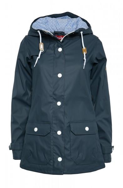 Derbe Peninsula Dots Navy Blau Damen Regenjacke