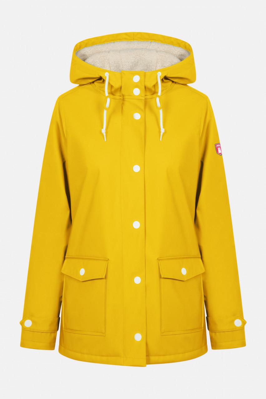 Derbe Pensholm Damen Regenjacke Yellow Gelb Gefüttert
