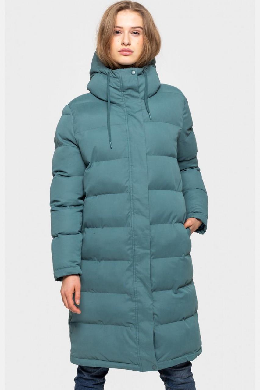 Selfhood Puffer Jacket Damen Wintermantel Steppmantel Grün Türkis