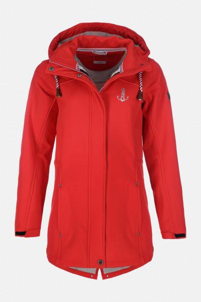 Damen Softshell-Jacke Rot
