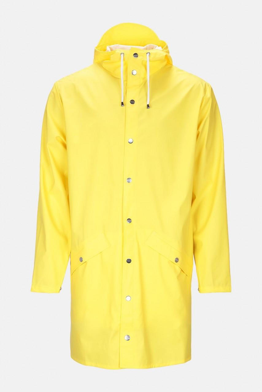 Rains Jacket Long Gelb Unisex Regenmantel Yellow Friesennerz