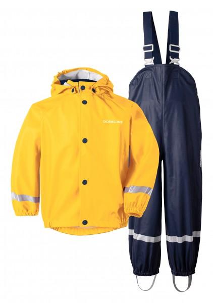 Didriksons Set Regenhose und Regenjacke Gelb Blau Slaskeman