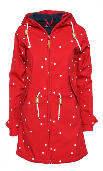 Derbe Island Friese Dots Punkte Rot Softshell Jacke