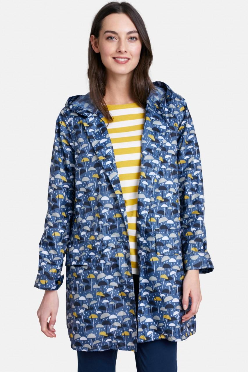Seasalt Pack It Jacket Damen Regenmantel Brolly Geo Regenschirme
