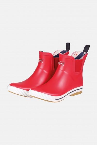 Derbe Wattpuuschen Rot Gummistiefel Halbschuh Chelsea Boots