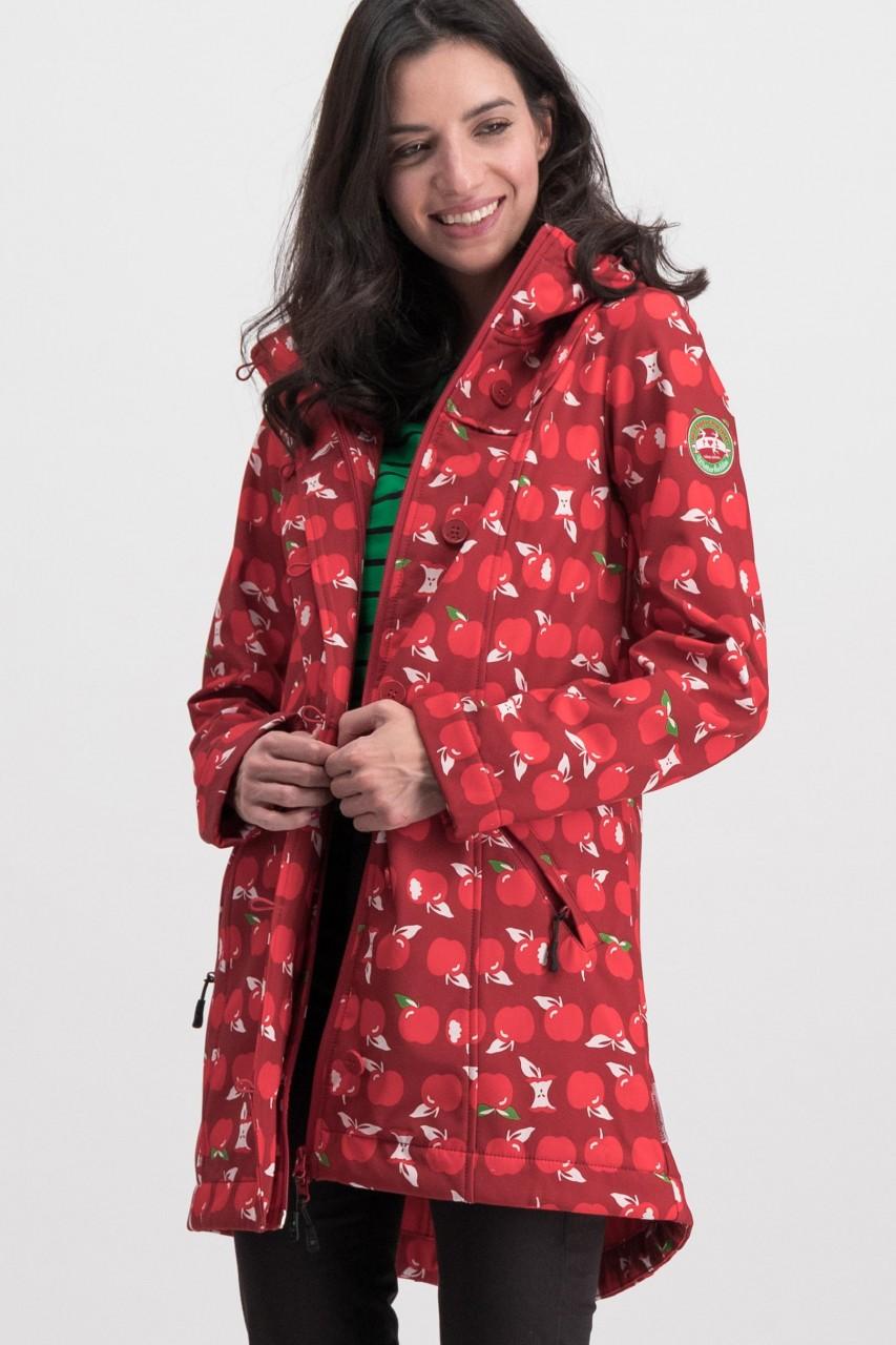 Blutsgeschwister Eat The Apple Softshell-Jacke Damen Rot Äpfel