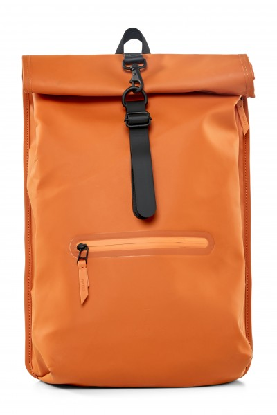 Rains Roll Top Rucksack Orange Wasserdicht